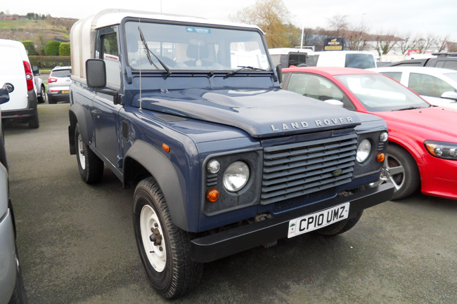 Land Rover Defender 90 TDCI Pickup Blue 2010 10 reg
