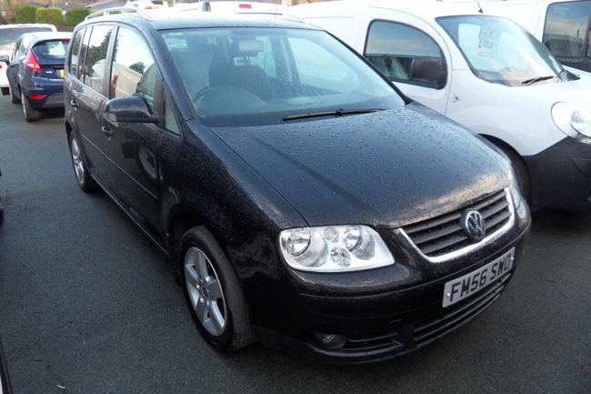 Volkswagen Touran 2.0 TDI 140PS 5 Door Black 2007 56 reg