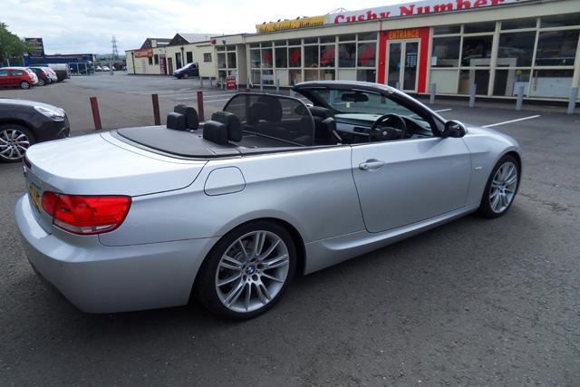 BMW 320D  M Sport  Convertible  Silver  2009  09 reg