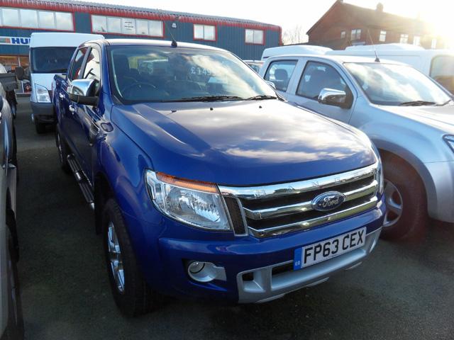 Ford Ranger 2.2 TD Ltd Double cab Pickup Blue Metallic 2013 63 reg