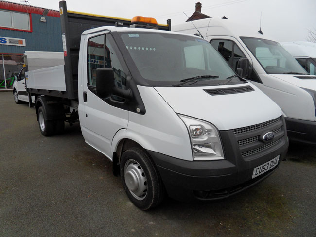 Ford Transit Tipper 350 MWB 125 PS with Tail Lift White 2013 63 reg
