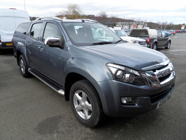 Isuzu D Max Utah 2.5 TD Double cab Pickup with colour coded canopy Grey 2014 14 reg