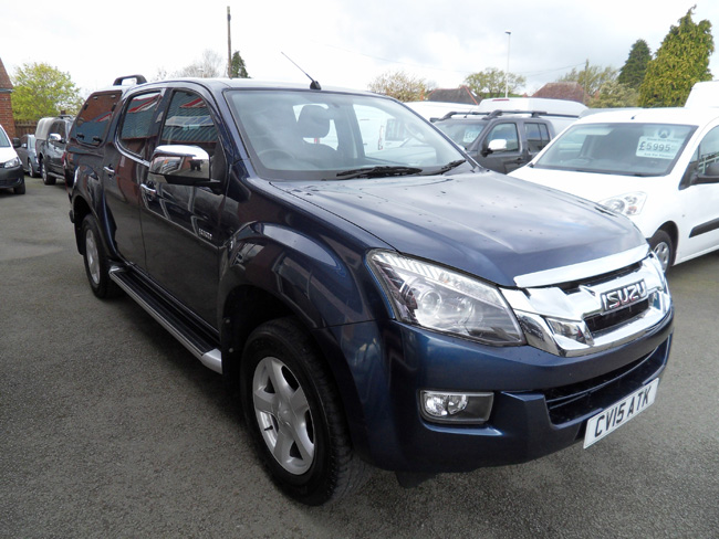 Isuzu D Max Yukon 2.5 TD Double cab Pickup Blue with colour coded Gull wing Canopy 2015 15 reg