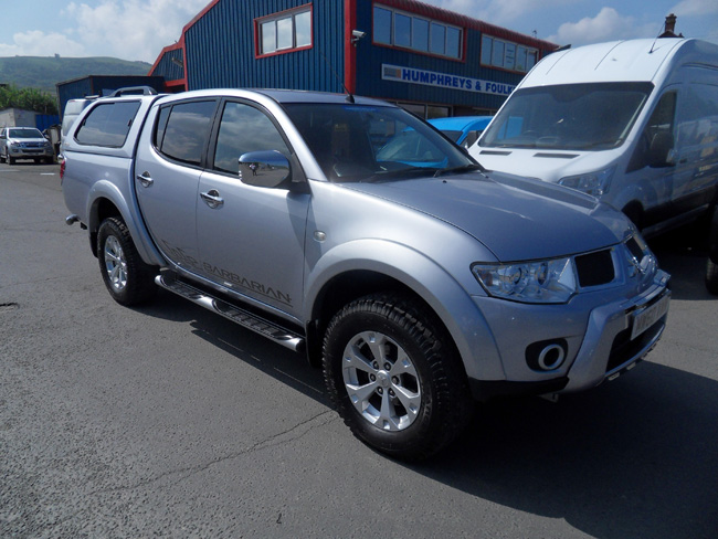 Mitsubishi L200 Barbarian 2.5 TD Double cab Pickup Silver with colour coded Canopy 2011 60 reg