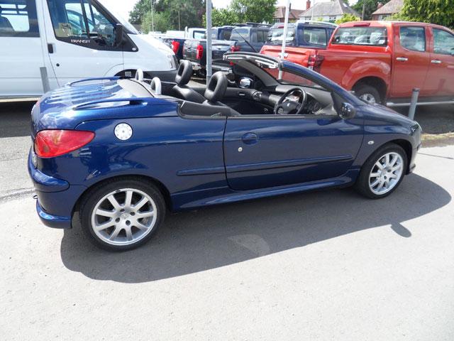 Peugeot 206 1.6 HDI Cabriolet Blue 2007 07 reg