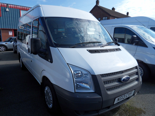 Ford Transit 300 Shuttle bus 9 seats White 2013 13 reg