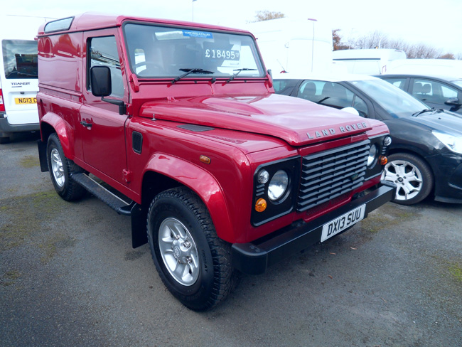 Land Rover Defender 90 Hard Top County Pack Red metallic 2013 13 reg