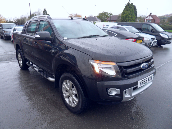 Ford Ranger Wildtrak 3.2 Double cab Pickup Black with Roller shutter and Tow bar 2015 65 reg