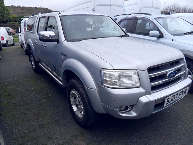 Ford Ranger Thunder 2.5 TD Double cab Pickup Grey with Canopy fitted 2007 07 reg