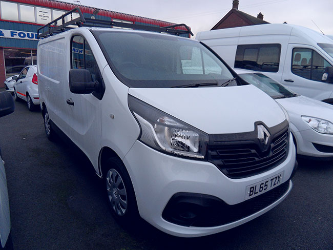 Renault Traffic SL27 1.6DCI L1 H1 Buisness + Van White with Roof Rack Air con 2016 65 reg