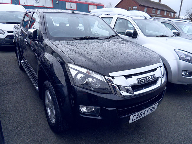 Isuzu D Max Yukon 2,5 TD Double cab Pickup, Black with Mountain top and Towbar, 2014, 64 reg