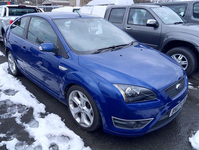 Ford Focus 2.5 ST2, 3 Door, Blue, 2007, 07 reg
