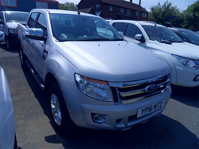 Ford Ranger Limited 32 TD Double cab Pickup, Silver, 2016, 16 reg