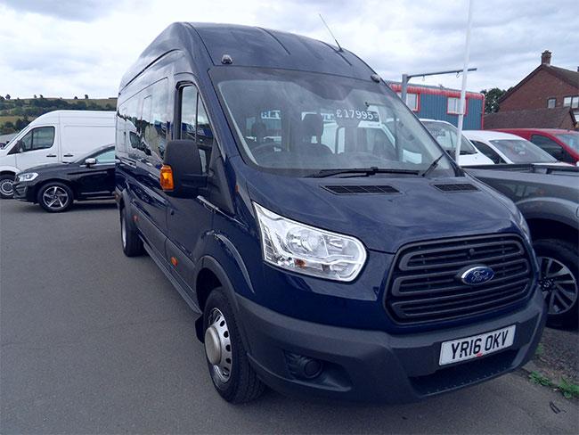 Ford Transit 460 Mini Bus, 17 Seats, Blue, 2016, 16 reg