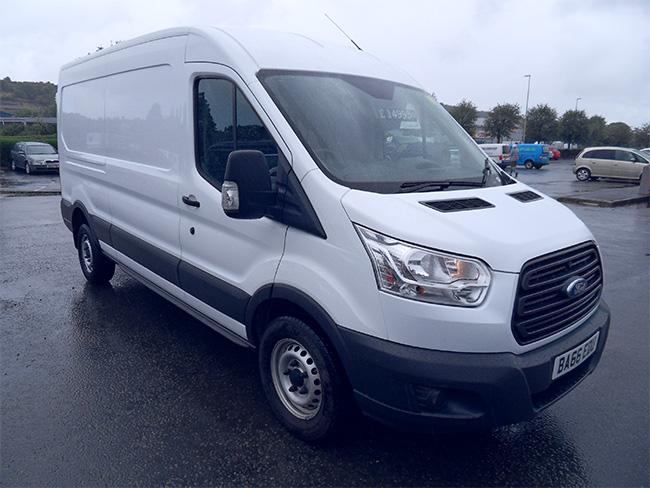 Ford Transit 350 L3, H2, 125ps, Van, White, 2017, 66 reg