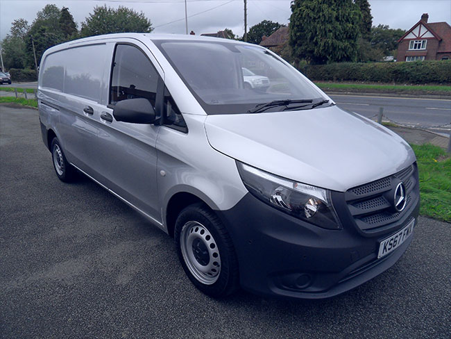 Mercedes Vito 111, 16 HDI, Extra long Van, Silver with twin side doors, 2017,67 reg