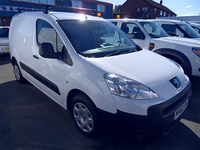 Peugeot Partner 16 HDI 90, L1 850S Van, White, 2011, 60 reg