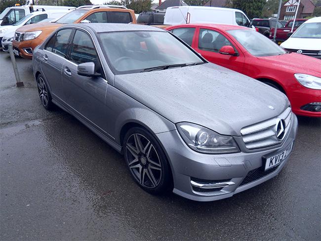 Mercedes C250 CDI AMG Sport Plus Auto, Silver, 2013, 13 reg