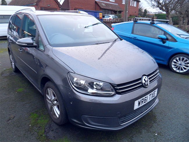 Volkswagen Touran 1.6 TDI SE 5 Door, 105ps, 7 Seats, Grey, 2012, 61 reg