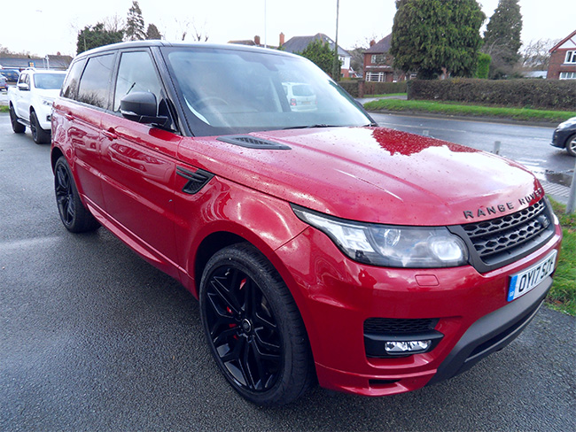Range Rover Sport 3.0 Autobiography Dynamic 5 Door, Red, 2017, 17 reg