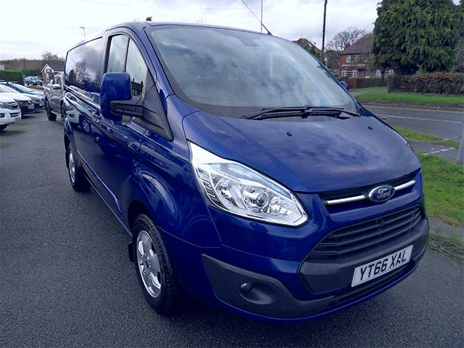 Ford Transit Custom Limited, 2.2 TD, 125PS, L1 H1 Van, Blue, 2016, 66 reg
