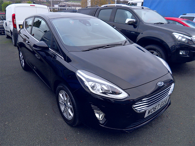 Ford Fiesta Zetec 1.0 (100) Eco boost, 3 Door, Black, 2018, 67 reg