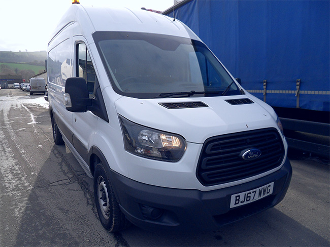 Ford Transit 2.0 TDCI 350 130PS RWD L3 H3 Van, White, 2017, 67 reg