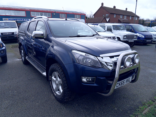 Isuzu D Max Utah 2.5 TD Double cab Pickup, Blue with Colour coded Canopy,Tow bar, 2015, 65 reg