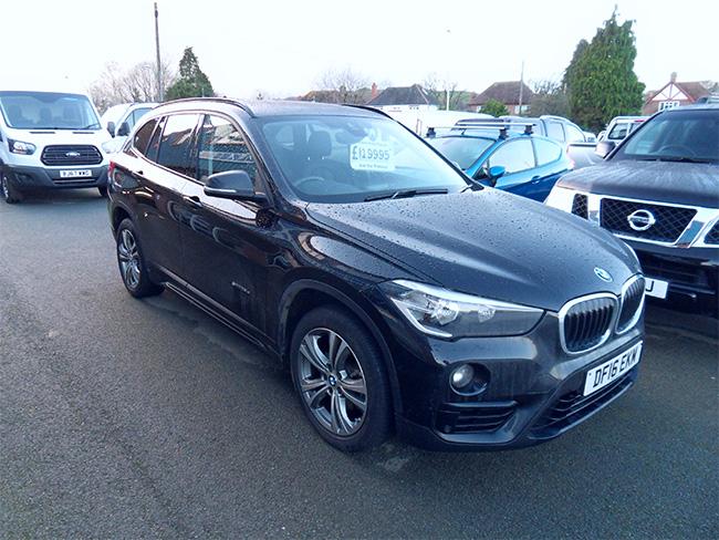 BMW X1, 2.0 TD, 148 BHP, Auto S Drive 1.8 Sport, Black, 2016, 16 reg