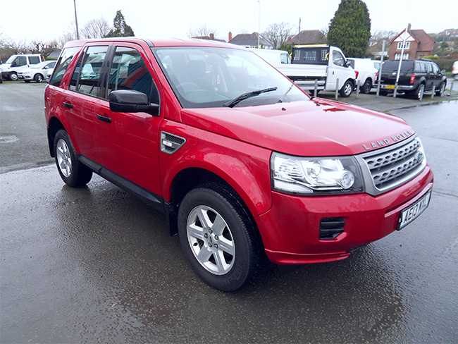 Land Rover Freelander S, 2.2 TD, Automatic, 5 Door, Red, 2013, 13 reg