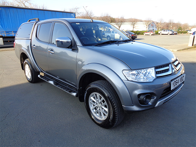 Mitsubishi L200 Trojan Double cab Pickup, 2.5 TD, Grey with colour coded Canopy, 2014, 64 reg