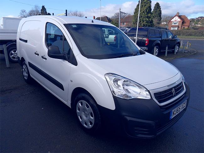 Peugeot Partner 1.6 HDI, 92PS, Crew Van, L2, White, 2015, 65 reg