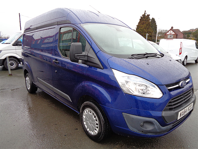 Ford Transit Custom, 2.2 TD, L2 H2 Van, 125ps, Blue, 2014, 64 reg