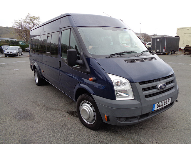 Ford Transit 115PS, T 430, 17 Seat Mini Bus, RWD, Blue, 2011, 11 reg
