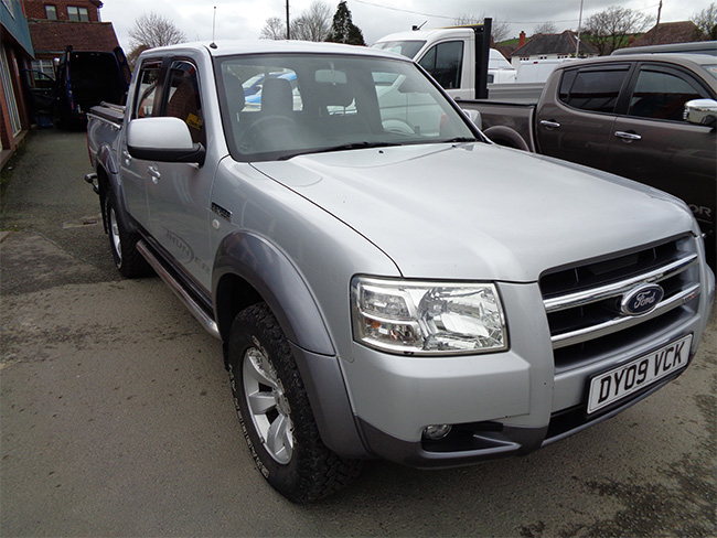 Ford Ranger XLT 2.5 TD Double cab Pickup, Silver with Mountain Top, 2009, 09 reg