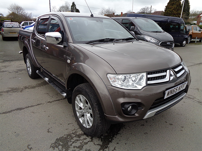 Mitsubishi L200 Warrior 2.5 TD, Double cab Pickup, Brown, 2015, 65 reg