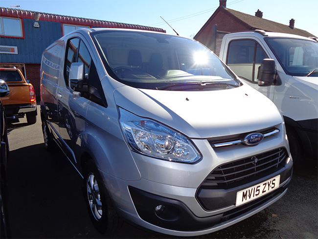 Ford Transit Custom Limited 270, L1, H1, 125PS, Silver, 2015, 15 reg