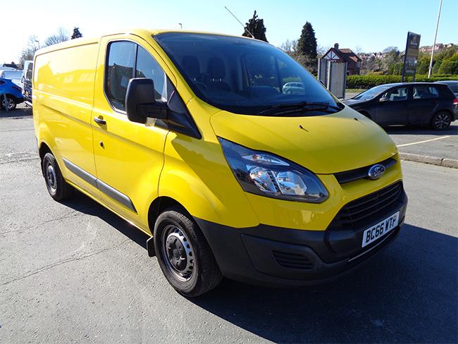Ford Transit Custom 290, L1, H1, 105PS Van, Yellow, 2017, 66 reg