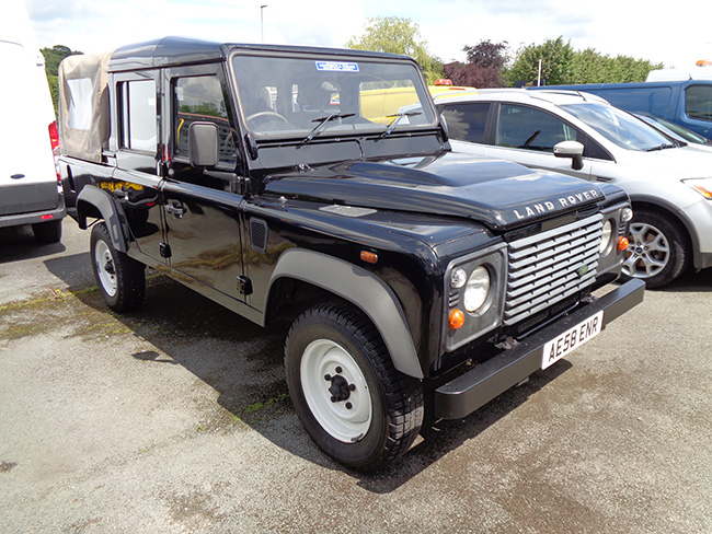 Land Rover Defender 110 Double cab Pickup, 2.4TD, Black, 2008, 58 reg
