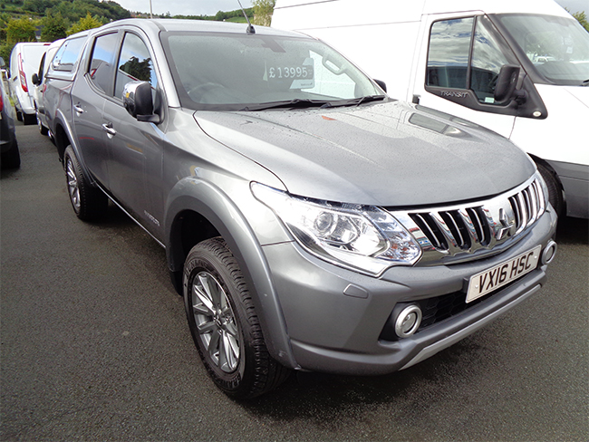 Mitsubishi L200 Warrior Double cab Pickup 2.5TD 178PS, Grey with colour coded Canopy, 2016, 16 reg