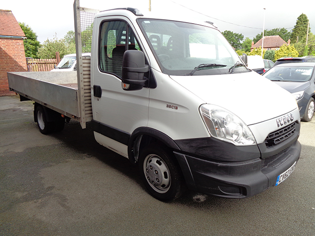 Iveco Daily 35C Dropside Truck, White, 2012, 62 reg