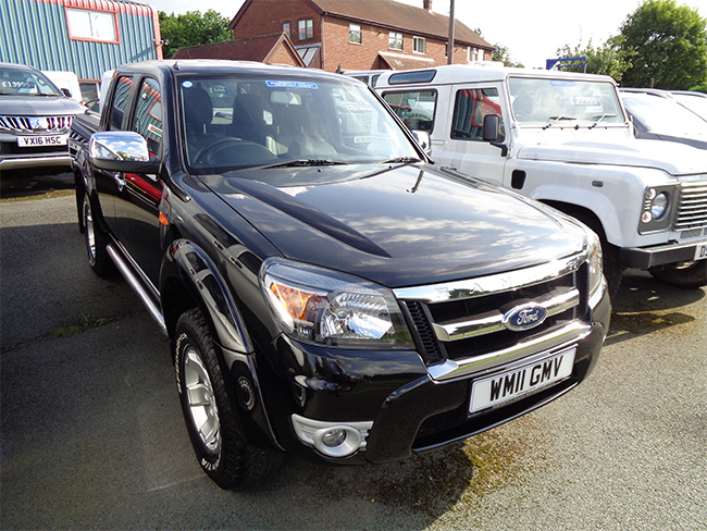 Ford Ranger Thunder 2.5 TD Double cab Pickup, Black with Mountain top fitted, 2011, 11 reg