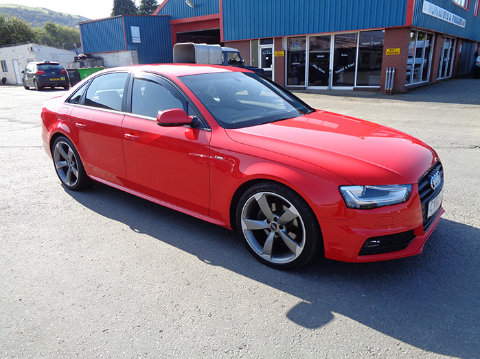 Audi A4 S Line Black Edition 177ps TD Saloon, Red, 2012, 62 reg