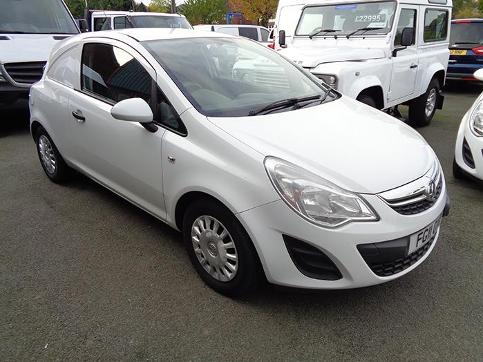 Vauxhall Corsa 1.3 CDTI, 75PS Ecoflex Van, White, 2011, 11 reg