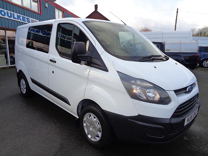 Ford Transit Custom L2 Double cab van, 2.2 TDCI, White, 2016, 16 reg