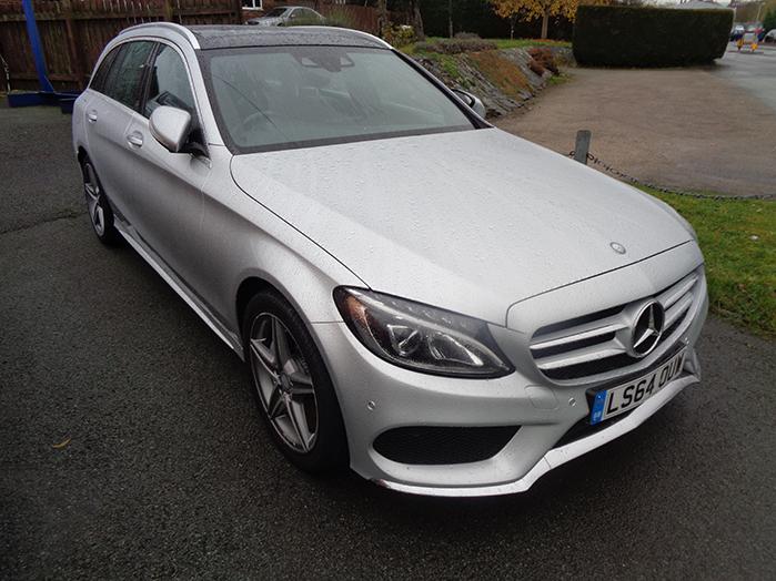 Mercedes C220 AMG Line Premium Auto Estate, Silver, 2014, 64 reg