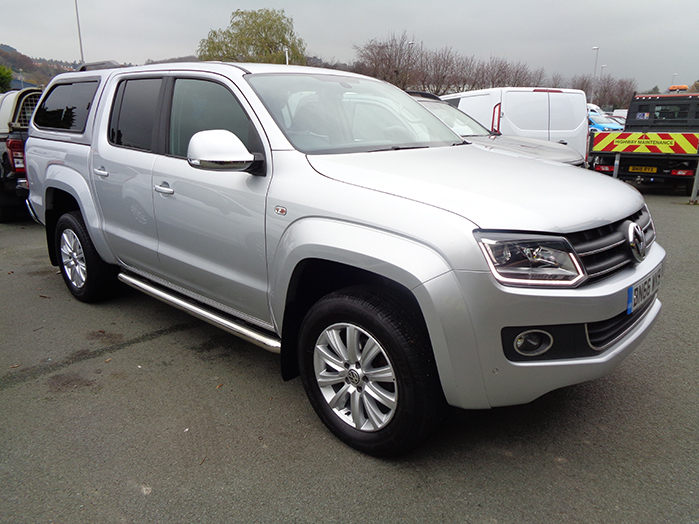 Volkswagen Amarok 2.0BiTDI, 180PS AUTO Highline Double cab Pickup, Silver with colour  coded Canopy, 2016, 66 reg