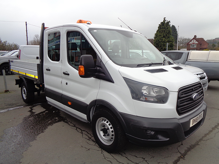 Ford Transit 2.0 TDCI 130PS RWD 350 L3 H2 Double cab Tipper, White, 2018, 18 reg