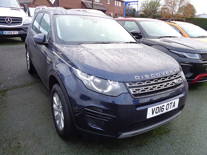Land Rover Discovery Sport, 2.0 TD4, 180PS, 4X4 SE Automatic, Blue, 2016, 16 reg