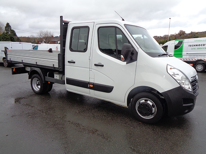 Vauxhall Movano L3, 3500, Double cab TIPPER,  White, 2017, 17 reg